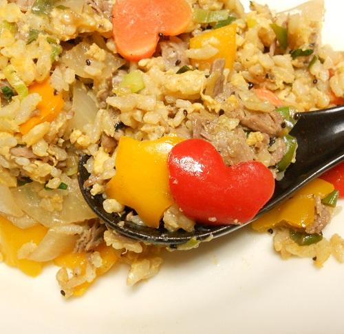 牛肉と宝石野菜チャーハン13