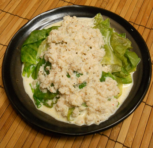 レタスのカニマヨがけ&カニと豆腐のレンジ蒸し13