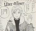 ドイツで暮らす内にドイツ人になったというジョークを飛ばす為、カラコンとかつらを装着;