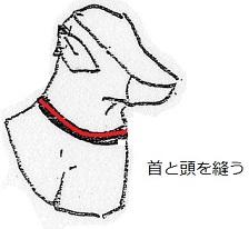10 首を縫う