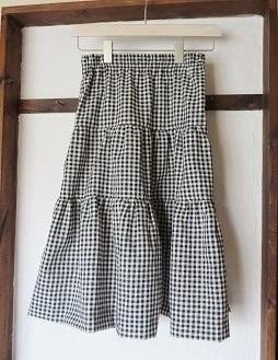 ギンガム スカート