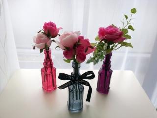 フランフランのオーブボトル花瓶/一輪挿し