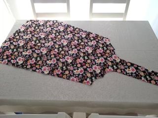 羽子板テーブルクロス花リボン