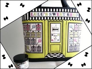 lulu guinnessのスイーツショップバッグ/イエローグリーン
