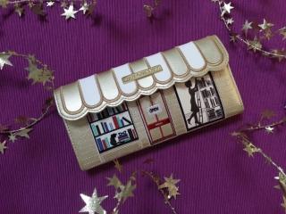 ルルギネスのブックショップ財布/限定色ゴールド