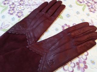 ルルギネス手袋ボルドー