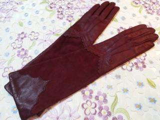 ルルギネス羊革レザーロング手袋