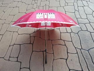 ルルギネス傘ショップ柄の赤