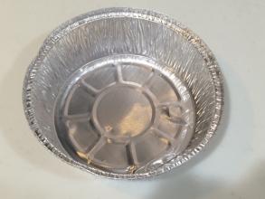 100均一の使い捨てのアルミ箔鍋で炊飯