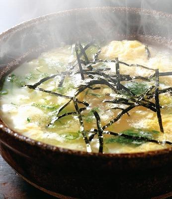 すっぽんスープで作る『すっぽん雑炊』