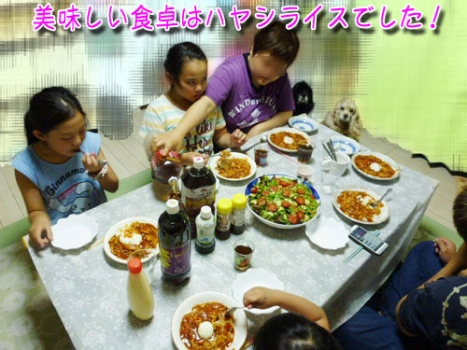 ハヤシライスデ夕飯