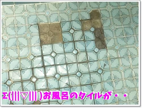 お風呂のタイルが