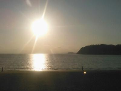 20150326江ノ島と夕日