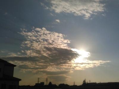 20120521夕方の空