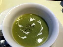 冷製のスープ、今日はギリギリOKだった