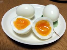 キレイに半熟卵が出来てますね