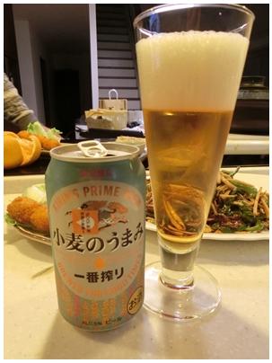 ビール一番搾り「小麦のうまみ」