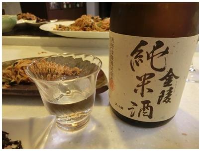 金陵純米酒と食べたもの2(焼きそば)