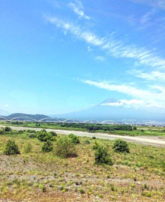 車窓から富士山