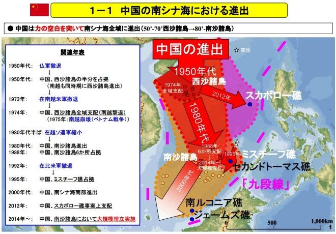 防衛省 中国 南シナ海における