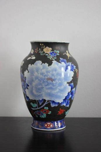 koransha blue flower vase