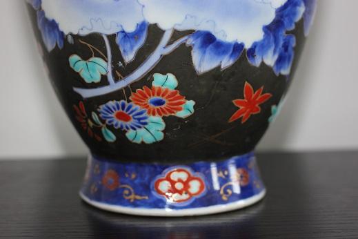 koransha blue flower vase 3