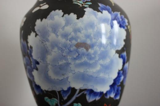 koransha blue flower vase 4