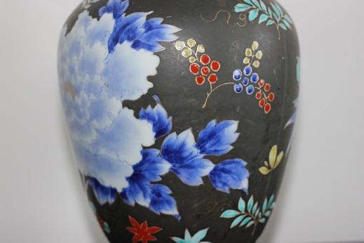 koransha blue flower vase 5