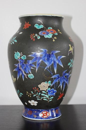 koransha blue flower vase 7