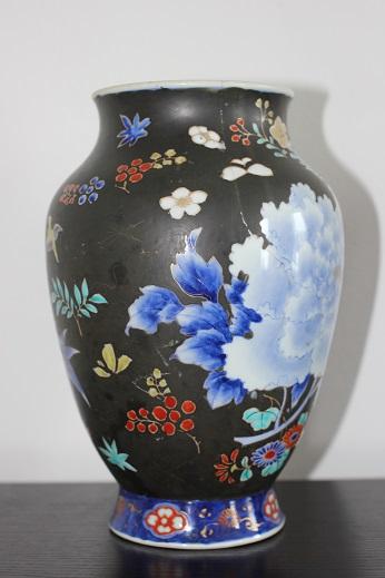 koransha blue flower vase 8
