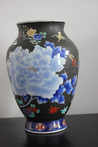 koransha blue flower vase 10