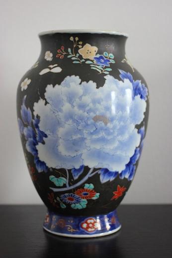 koransha blue flower vase 11