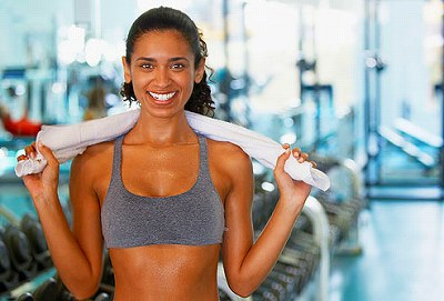 s-woman smiling in gym