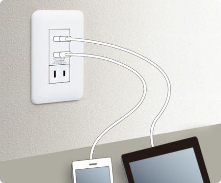 「埋込 [充電用] USB コンセント2ポート」