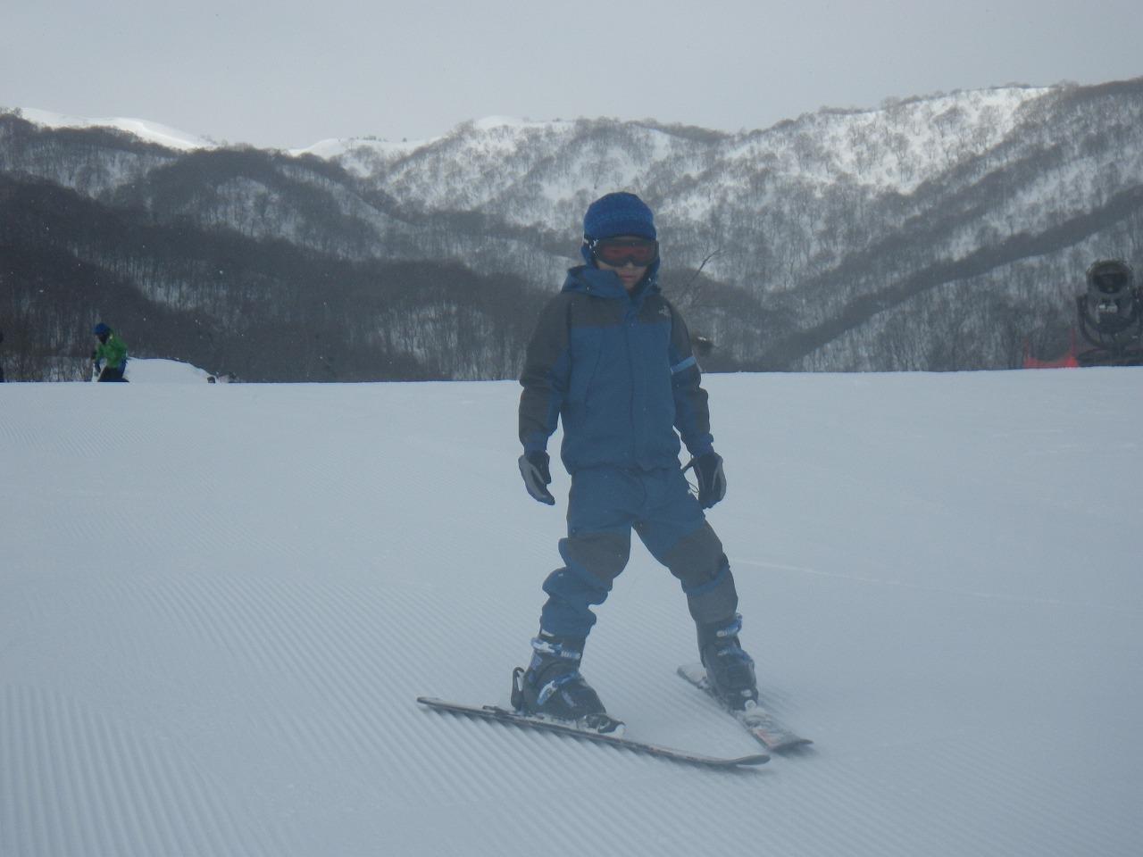 次男スキー