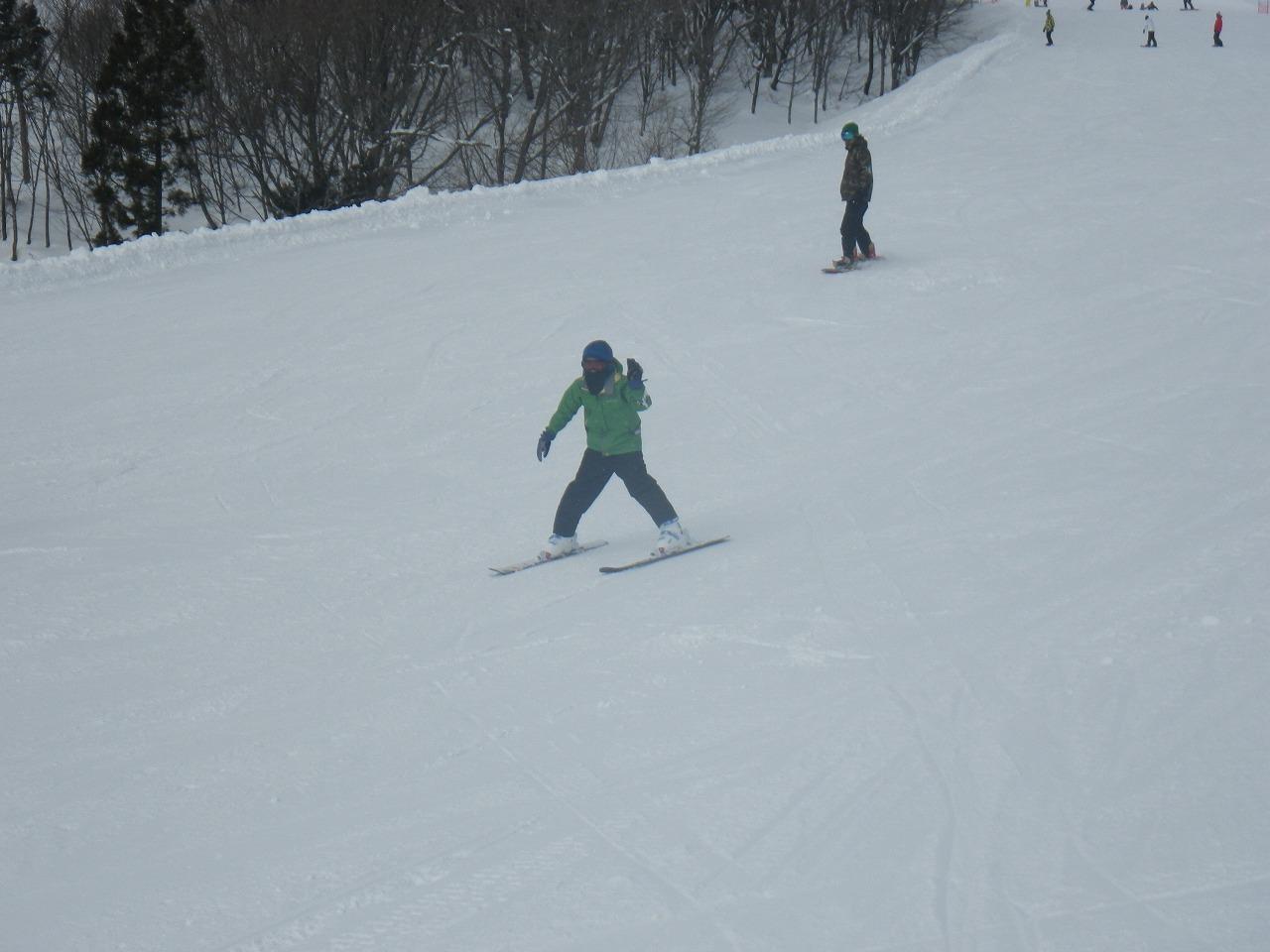 長男スキー
