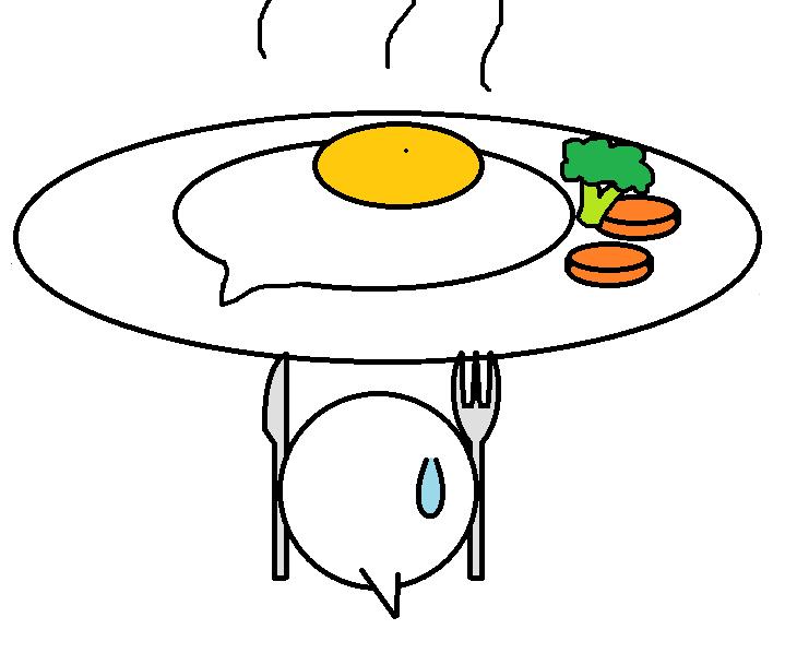 264つちのこ朝食を摂る4