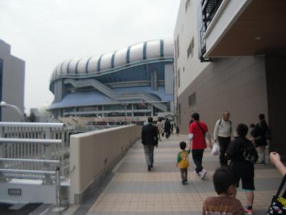 1 大阪ドームが見えてます