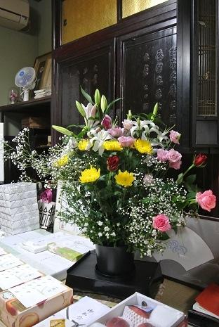 1 お花を供えました