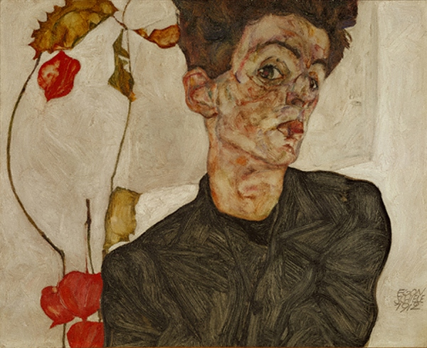 烏瓜のある自画像1912