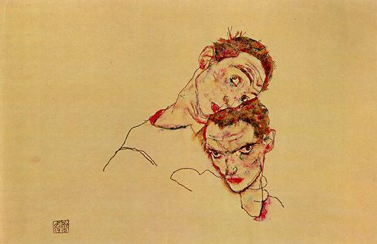 ふたりの自画像 1915