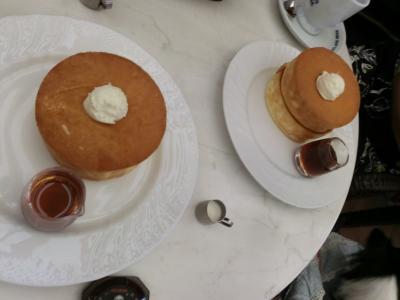 念願のふわふわスフレパンケーキ