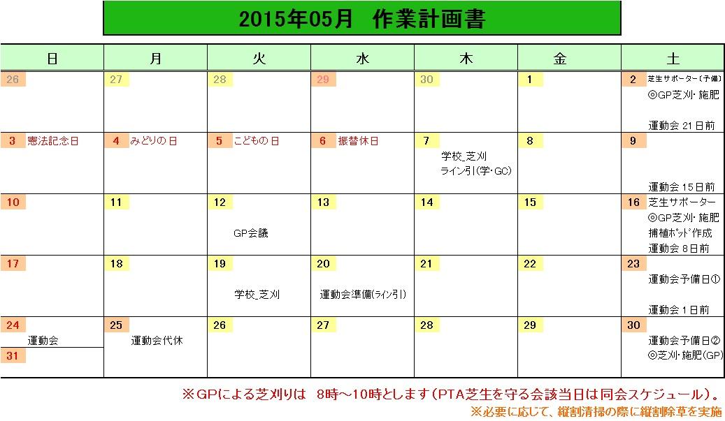 201505作業計画