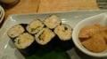 あえん小海老天ぷらと御飯海苔巻