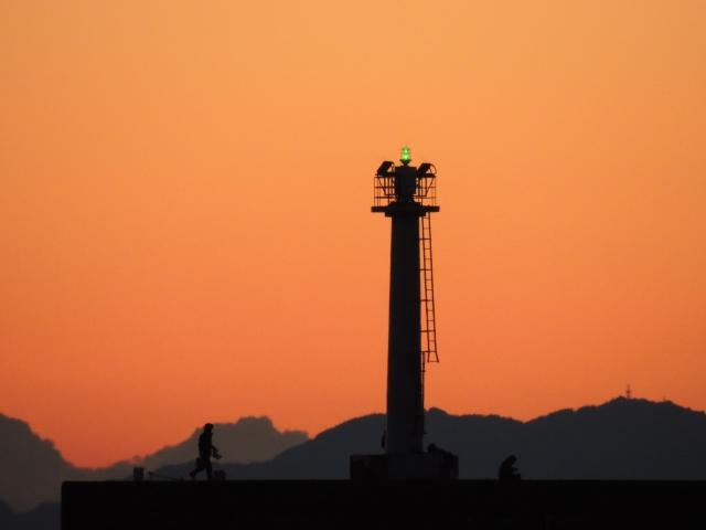 N5196沼津港の夕暮れ