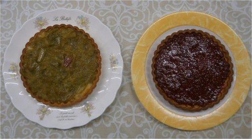 04 500 20150704 tarts of ルバーブ & raspberry