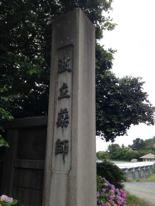 波立薬師寺の紫陽花ポタ・10