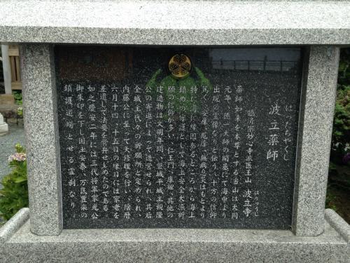 波立薬師寺の紫陽花ポタ・13