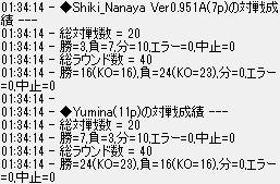 対ユミナ11P20戦