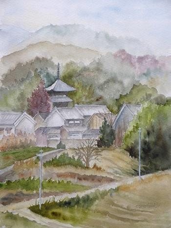 冬の当麻寺